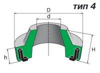 Грязесъемник ГОСТ 24811-81. Тип 4. Формовые резинотехнические изделия.